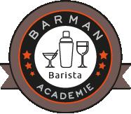 Logo Barista Barman Académie Lyon formation initiation Barista, art du café, formation café