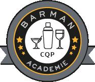 Logo CQP Barman Monde de la Nuit, Barman Académie Lyon formation professionnelle Barman Barmaid